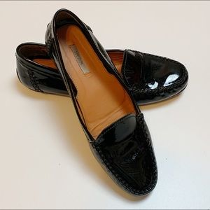Geox Black Patent Driving Loafer Flats